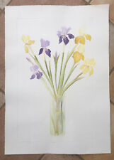 """SHEILA OLINER 1930-2020 St Ives """"Irises"""" Artists Proof ETCHING"""