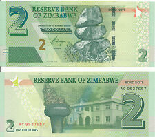 Simbabwe / Zimbabwe - 2 Dollars 2016 (2017) UNC Bond Note - Pick New