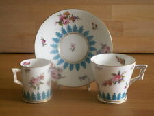 Unboxed Coalport Date-Lined Ceramic Cups & Saucers