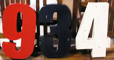 Distressed Metal Numbers - 18 Inches High 2 Inches Deep NEW - Price is for each