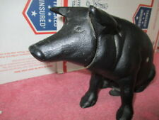 Vintage Cast Iron Pig Piggy Bank / Door Stop