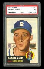 1953 Topps Set Break #147 Warren Spahn PSA 7 NM