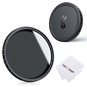 K&F Concept ND2-ND400 lens Filter Ultra-thin+Filter Cap 67/72/77/82mm adjustable