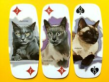3 Chartreux Siamese Tonkinese Cats Single Playing Cards