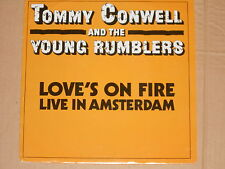 """TOMMY CONWELL AND THE YOUNG RUMBLERS -Love's On Fire- 7"""" 45 PROMO"""