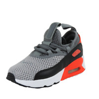 Nike AIR MAX 90 EZ PS Running Boys Little Kids Shoes Grey/Black AO3291-002 Mesh