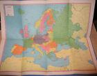 C.S. Hammond's War Map of Europe WWII WW2 Vital Statistics - FREE SHIPPING