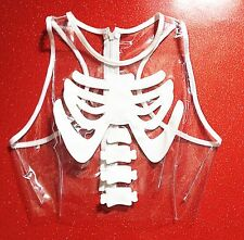 Thecreepsstore : Ribcage Pvc Top / XS S M L XL  / Goth Grunge