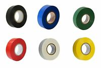 12 ROLLS OF MIX COLOUR ELECTRICAL PVC INSULATION INSULATING TAPE 8metres
