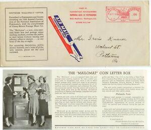 1939 Washington DC Mailomat slogan meter Air Mail - Postmasters Convention