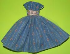 Blue & Pink  Dress For Barbie Vintage Doll Reproduction Repro, ooak,