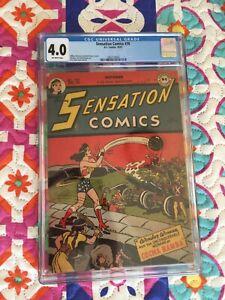 Sensation Comics #70 ~ CGC 4.0 ~ DC 1947 ~ Classic Golden Age Wonder Woman