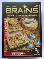 Brains: Treasure Map one-player game 50 sneaky puzzles by Reiner Knizia