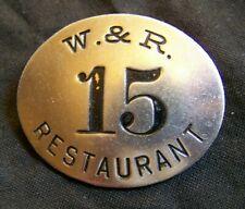 New listing Vintage Chicago W.& R. Restaurant Employee Badge~Pinback