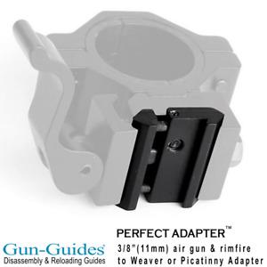 "3/8"" (11mm) Airgun / Rimfire Dovetail adapter to Picatinny Weaver Scope Mount"