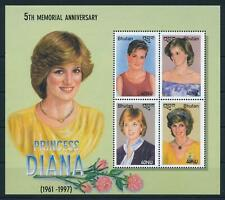 SPECIAL LOT Bhutan 2003 - Princess Diana - 25 Sheets of 4 - MNH
