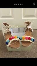 Miss KG Pebble Pom Pom Sandals Size UK 6 Beige Multicoloured Kurt Geiger Ankle