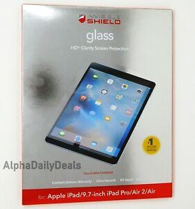 ZAGG InvisibleShield Glass Screen Protector 9.7 inch iPad Pro, iPad Air 2, Air
