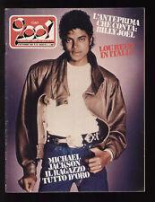 CIAO 2001 35/1983 POSTER MICHAEL JACKSON VISAGE NAPOLI CENTRALE AKTUALA AGORA'