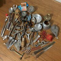 Vintage Kitchen Junk Drawer Lot 60+ Pieces! Advertising MCM Primitive Farmhouse