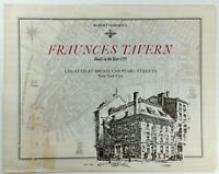 1970's Original Vintage Menu FRAUNCES TAVERN Restaurant New York City