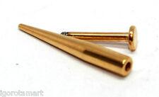 Acero de calidad oro plateado cono Spike Taper barbilla bezotes largo Stud joyas de cuerpo