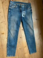 Stretch Jeans von Biba Juicy Beats blue orange washed Baumwolle Elastan 40
