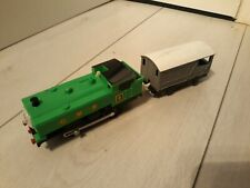 Thomas Trackmaster Duck Train with Toad brake truck, battery operated. RARE