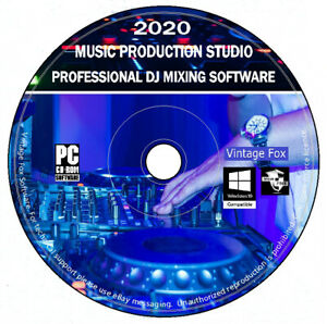 DJ Mixing Software - Music Creation Studio - Audio Editing & Recording PC CD NEW
