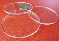 "3/32"" (.094"") Thick x 2.50"" (2 1/2"") Diameter Acrylic Circle Disc Clear 25 Pcs"