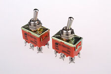 New 2Pcs AC 250V 15A 6 Screw Terminal DPDT ON/ON 2 Positions Toggle Switch