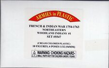 Armies in Plastic Northeastern Woodland Indians Set #1 1/32 Scale 54mm