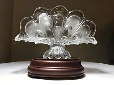 VTG BOHEMIA CRYSTAL TOSCANA DRAPED FOOTED NAPKIN HOLDER FROSTED Czech Republic