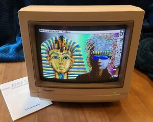 Commodore Amiga 1084s Color Monitor -TESTED- Great condition -vintage-