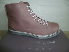 Andrea Conti Women's Ankle Boots Trainers Old Rose Leather