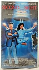 """New Sealed Original VHS Movie """"Second Sight"""" Comedy John Larroquette, Psychic"""