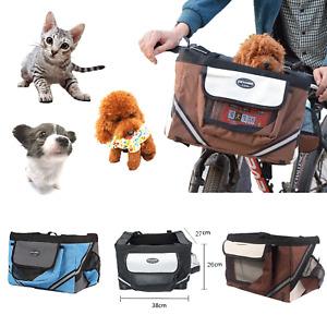 Folding Pet Dog Bicycle Basket Front Cat Dog Basket Carrier for Bike Travel Tool