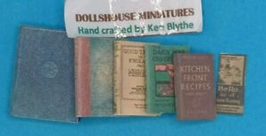 1:12 Scale Book, 6 x Cookery Books , Crafted by Ken Blythe