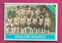 1975-76 TOPPS # 210 HOUSTON ROCKETS  TEAM PHOTO NRMT-MT CARD (INV# A8591)