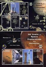 ST.VINCENT =SPACE EXPLORATION (MARS & JUPITER) x2 M/S MNH CV$13.00 ASTRONOMY