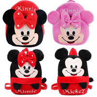 Kids Baby Girls Boys Toddler Mickey Backpack Shoulder Book School Bag Rucksack