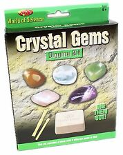World Of Science Crystal Gemstone Digging Excavation Kit Geology Toy Set