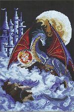 Cross Stitch Kit Dragon blue planet