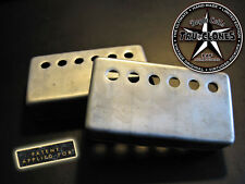Aged Humbucker Covers-Doyle Coils PAF~Relic'd Vintage Correct Real Nickel Silver