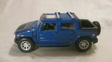 2005 Hummer H2 SUT Pick Up In A Blue 140 Scale Diecast From Kinsmart  New  dc814