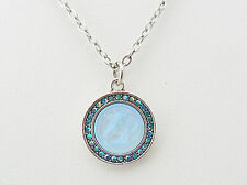 KIRKS FOLLY CLOUDWALKER UNICORN NECKLACE ST/AQUA CRYSTAL AB ~~NEW RELEASE~~