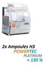2x AMPOULES H3 POWERTEC XTREME +130 OPEL KADETT E 3/5 portes (33_, 34_, 43_, 44_