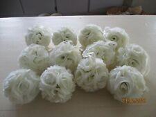 New Lot Of 12 White Rose Flower Isle Ball Wedding Decorations