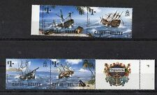CAYES OF BELIZE  1985 SHIPWRECKS COMPLETE SET MNH PLUS LABEL ONLY £1.00