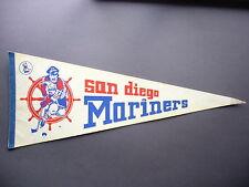 EARLY 1970'S 1972/73 SAN DIEGO MARINERS WHA HOCKEY PENNANT FLAG NICE!!
